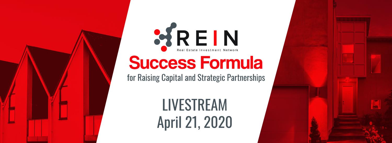 Success Formula for Raising Capital and Strategic Partnerships - Live Stream
