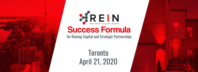 Success Formula for Raising Capital and Strategic Partnerships - Toronto