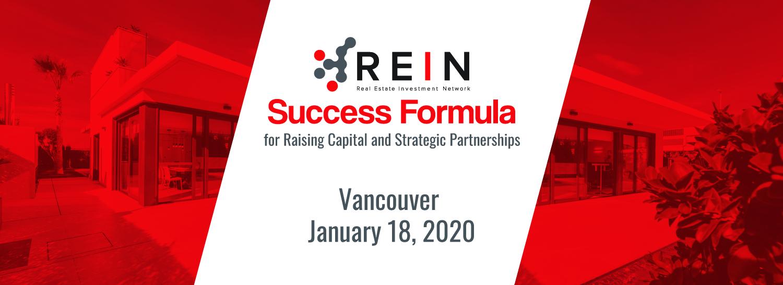 Success Formula for Raising Capital and Strategic Partnerships - Vancouver